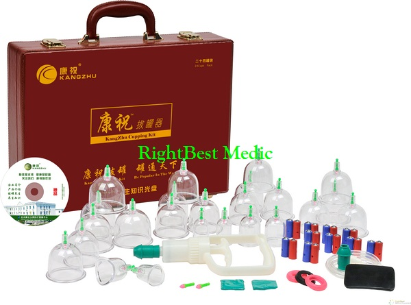 Cupping Massage Kit 24 Cups(red Case)