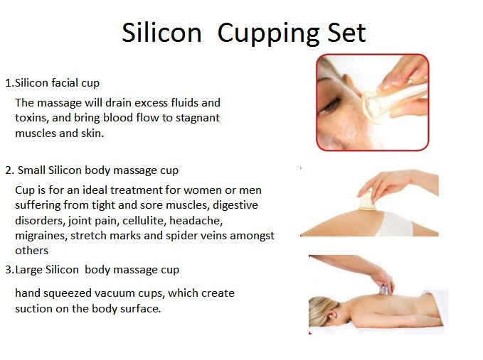 Silicone Facial and Massage Cupping Set
