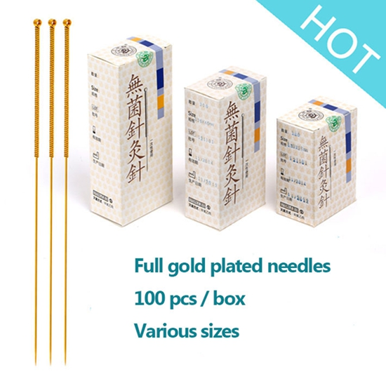 Cloud Dragon full gold plated acupuncture needles