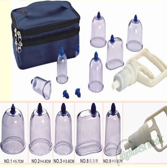 Transparent vacuum medical massage cupping